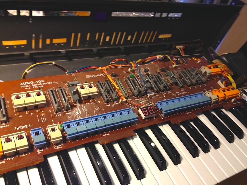 Roland Juno 106 Restoration ::: | xbs111 wordpress com